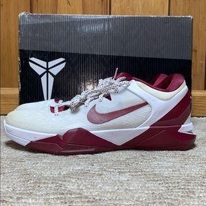 Nike Zoom Kobe 7 (VII) System White Maroon Sz 12.5